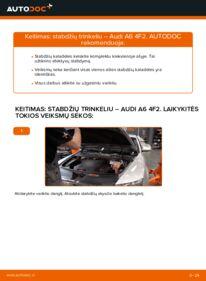 Kaip atlikti keitimą: 3.0 TDI quattro Audi A6 4f2 Stabdžių Kaladėlės