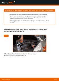 Wie der Wechsel durchführt wird: Radlager Audi A6 4f2 3.0 TDI quattro 2.0 TDI 2.4 tauschen