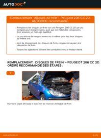 Comment effectuer un remplacement de Disques De Frein sur 1.6 16V Peugeot 206 CC