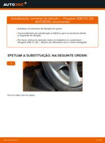 Como realizar a substituição de Ponteiras de Direcção no 1.6 16V Peugeot 206 cc 2d