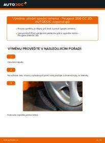 Jak provést výměnu: Rameno Zavesenia Kolies na 1.6 16V Peugeot 206 cc 2d