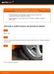 Como realizar a substituição de Braço De Suspensão no 1.6 16V Peugeot 206 cc 2d