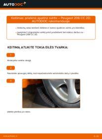 Kaip atlikti keitimą: 1.6 16V Peugeot 206 cc 2d Vikšro Valdymo Svirtis