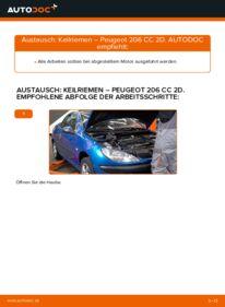 Wie der Wechsel durchführt wird: Keilrippenriemen 1.6 16V Peugeot 206 cc 2d tauschen