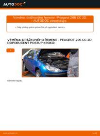 Jak provést výměnu: Klinovy zebrovany remen na 1.6 16V Peugeot 206 cc 2d
