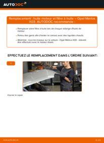 Comment effectuer un remplacement de Filtre à Huile sur 1.7 CDTI (E75) Opel Meriva A