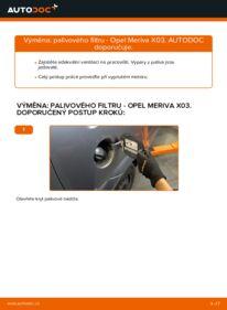 Jak provést výměnu: Palivový filtr na 1.7 CDTI (E75) Opel Meriva x03