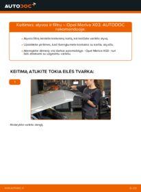 Kaip atlikti keitimą: 1.7 CDTI (E75) Opel Meriva x03 Alyvos filtras