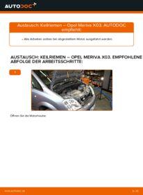 Wie der Wechsel durchführt wird: Keilrippenriemen 1.7 CDTI (E75) Opel Meriva A tauschen
