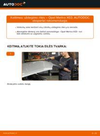 Kaip atlikti keitimą: 1.7 CDTI (E75) Opel Meriva x03 Uždegimo ritė