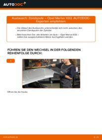 Wie der Wechsel durchführt wird: Zündspule 1.7 CDTI (E75) Opel Meriva x03 tauschen
