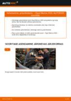 Kuidas vahetada Opel Meriva X03 esi-piduriketaste – õpetus