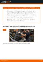 Elülső féktárcsák-csere Opel Meriva X03 gépkocsin – Útmutató
