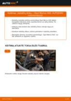 Žingsnis po žingsnio pakeiskite FIAT 127 Ašies montavimas PDF vadovas
