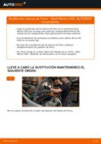 Cómo cambiar: discos de freno de la parte delantera - Opel Meriva X03 | Guía de sustitución