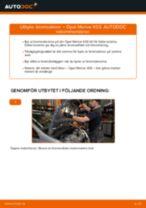 Byta bromsskivor fram på Opel Meriva X03 – utbytesguide