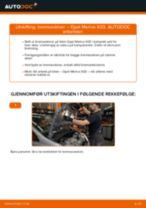 Slik bytter du bremseskiver fremme på en Opel Meriva X03 – veiledning