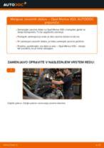 Kako zamenjati avtodel zavorni diski spredaj na avtu Opel Meriva X03 – vodnik menjave