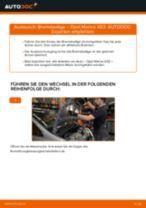 Wie Bremsklötze OPEL MERIVA wechseln und einstellen: PDF-Leitfaden