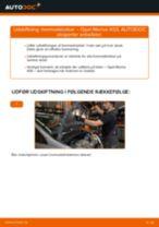 Udskift bremseklodser for - Opel Meriva X03 | Brugeranvisning