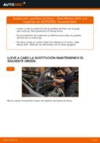 Cómo cambiar: pastillas de freno de la parte delantera - Opel Meriva X03 | Guía de sustitución