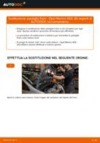 Come cambiare pastiglie freno della parte anteriore su Opel Meriva X03 - Guida alla sostituzione