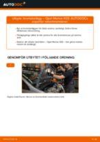 Steg-för-steg-guide i PDF om att byta Bromsbelägg i OPEL MERIVA