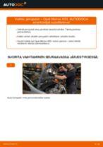 Kuinka vaihtaa jarrupalat eteen Opel Meriva X03-autoon – vaihto-ohje