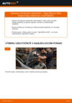 Ako vymeniť predné brzdové platničky na Opel Meriva X03 – návod na výmenu