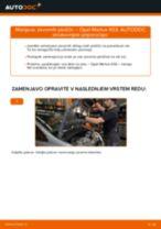 Zamenjavo Zavorne Ploščice: pdf navodila za OPEL MERIVA