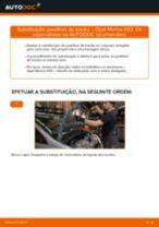 Como mudar pastilhas de travão da parte dianteira em Opel Meriva X03 - guia de substituição