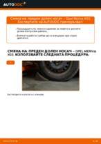 Подмяна на Носач На Кола OPEL MERIVA: техническо ръководство