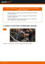 Elülső fékbetétek-csere Opel Meriva X03 gépkocsin – Útmutató