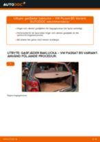 Byta gasfjäder baklucka på VW Passat B5 Variant – utbytesguide