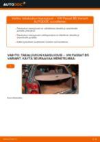 Kuinka vaihtaa takaluukun kaasujousi VW Passat B5 Variant-autoon – vaihto-ohje