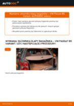 Jak wymienić siłowników klapy bagażnika w VW Passat B5 Variant - poradnik naprawy