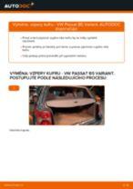 Jak vyměnit vzpery kufru na VW Passat B5 Variant – návod k výměně
