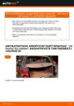 Αλλαγη Αμορτισερ πισω πορτας: pdf οδηγίες για VW PASSAT