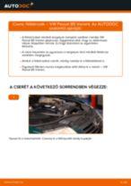 Hogyan cseréljünk hátsó és első Féktárcsák VW PASSAT Variant (3B6) - kézikönyv online