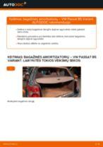 Kaip pakeisti VW Passat B5 Variant bagažinės amortizatorių - keitimo instrukcija