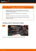 Kaip pakeisti VW Passat B5 Variant stabdžių diskų: priekis - keitimo instrukcija