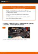 Kaip pakeisti VW Passat B5 Variant stabdžių diskų: galas - keitimo instrukcija