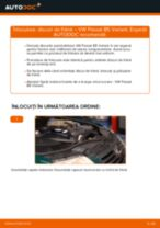 Cum se înlocuiesc și se ajustează Discuri frana VW PASSAT: manual pdf