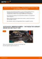 Einbau von Scheibenbremsen beim VW PASSAT Variant (3B6) - Schritt für Schritt Anweisung