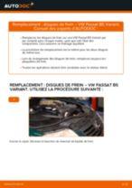 Comment changer : disques de frein arrière sur VW Passat B5 Variant - Guide de remplacement
