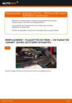 Comment changer : plaquettes de frein avant sur VW Passat B5 Variant - Guide de remplacement