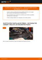 Cómo cambiar: pastillas de freno de la parte delantera - VW Passat B5 Variant | Guía de sustitución