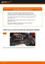 Manuale online su come cambiare Ganasce dei freni VW PASSAT Variant (3B6)