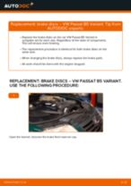 Replacing Brake disc set VW PASSAT: free pdf