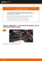 Kuinka vaihtaa jarrulevyt taakse VW Passat B5 Variant-autoon – vaihto-ohje
